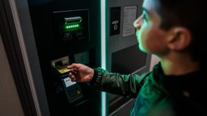 Parking ticket machines and ATM's are some of the first customer service kiosks accepted globally.